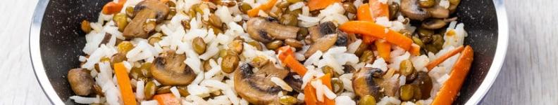 Riz, lentilles et carottes
